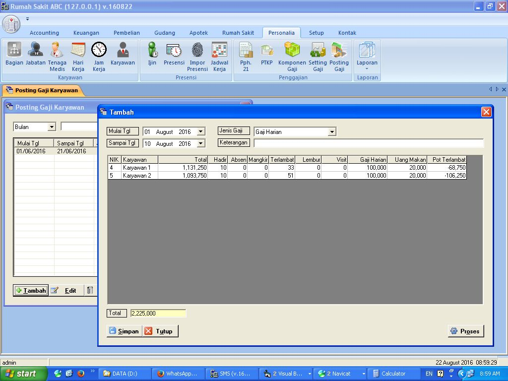 cara menghitung gaji karyawan menggunakan sistem shift ...